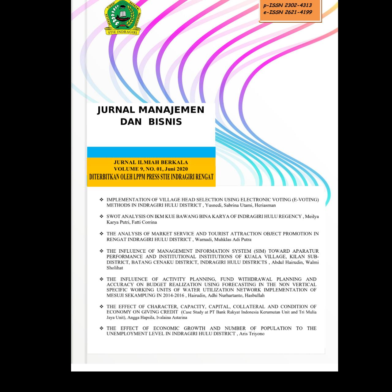 View Vol. 9 No. 1 (2020): JURNAL MANAJEMEN DAN BISNIS (TERBIT JUNI 2020)